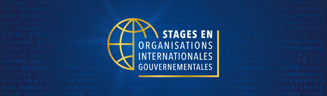 Stages en organisations internationales gouvernementales