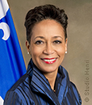 Photo de la ministre Nadine Girault